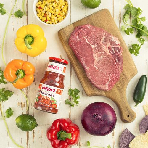 Grilled Flank Steak Fajita Nachos  - Get The Recipe