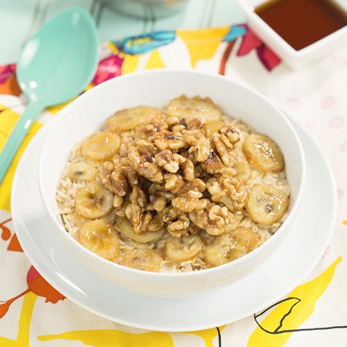 Maple Walnut Banana Oatmeal - Get The Recipe
