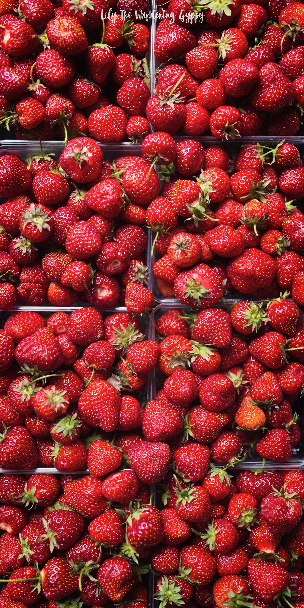 A gorgeous flat of local strawberries.