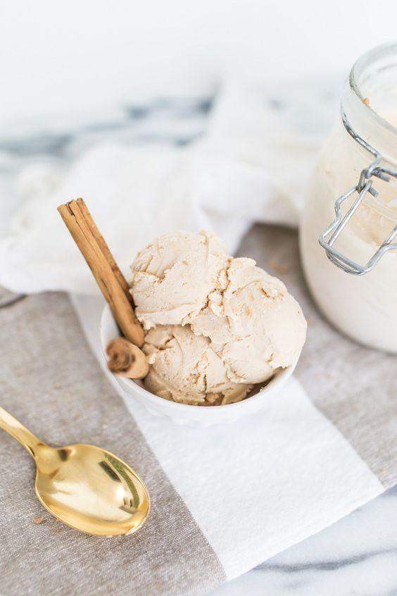 homemade chai latte ice cream