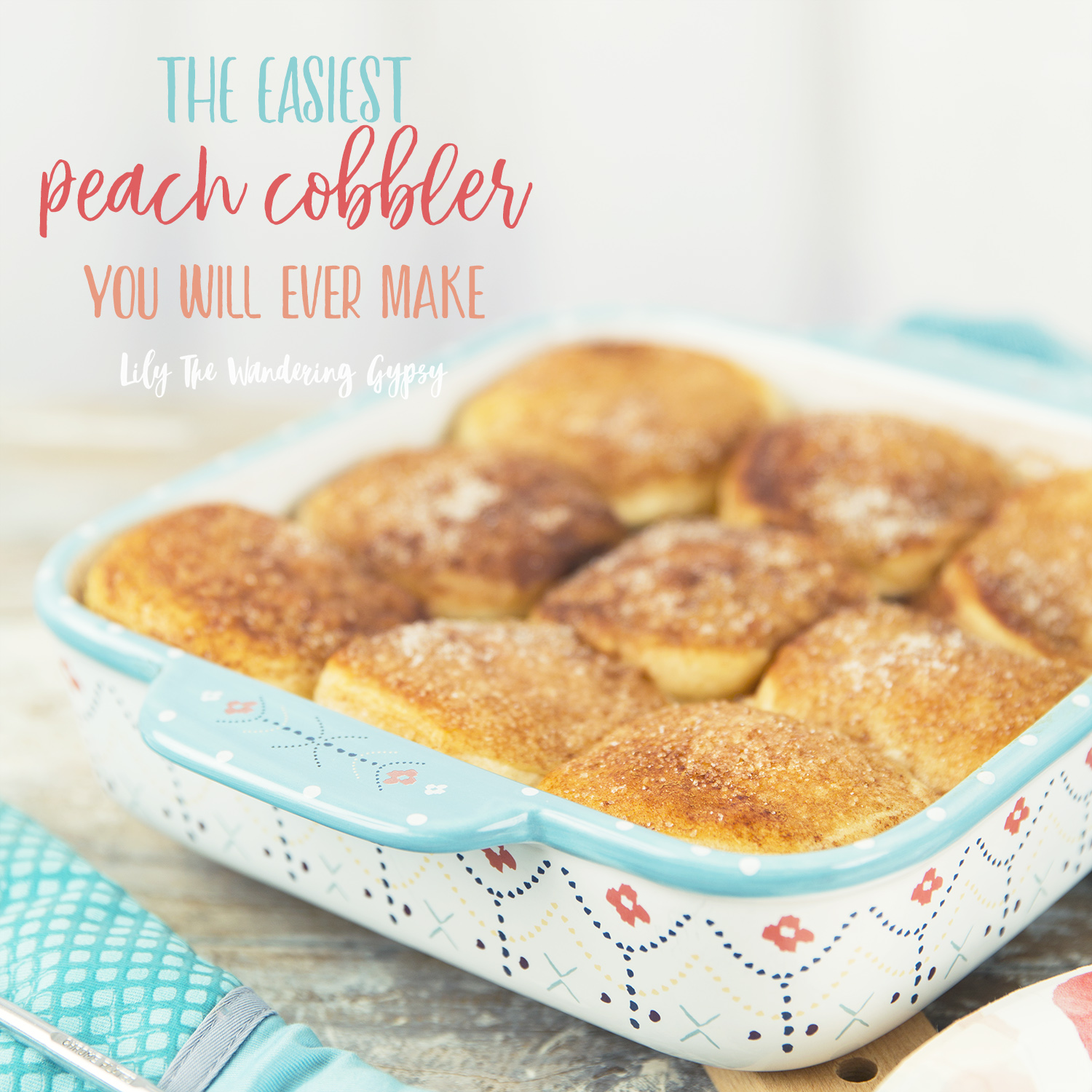 Easiest Peach Cobbler Ever!