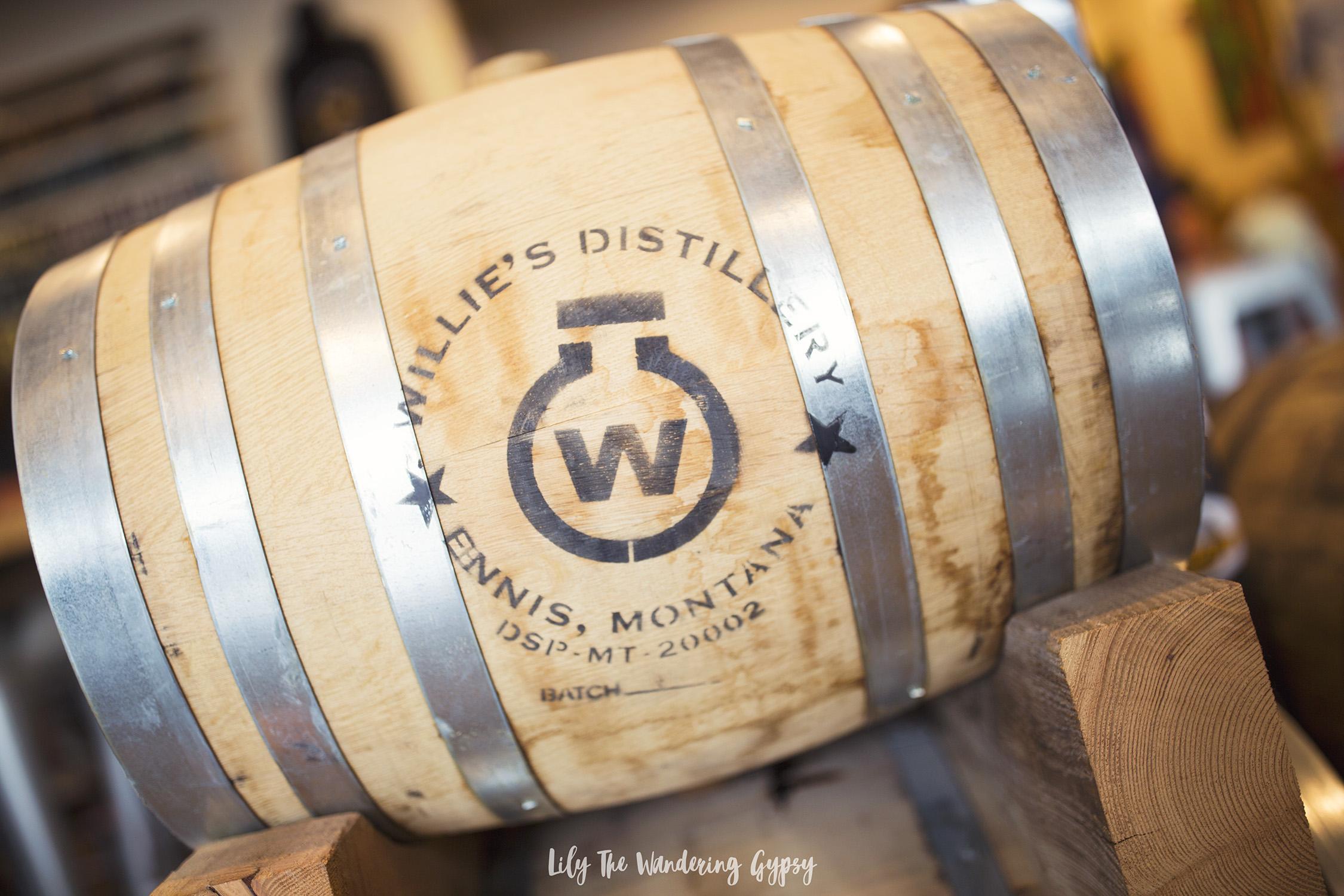 Willie's Distillery Barrel