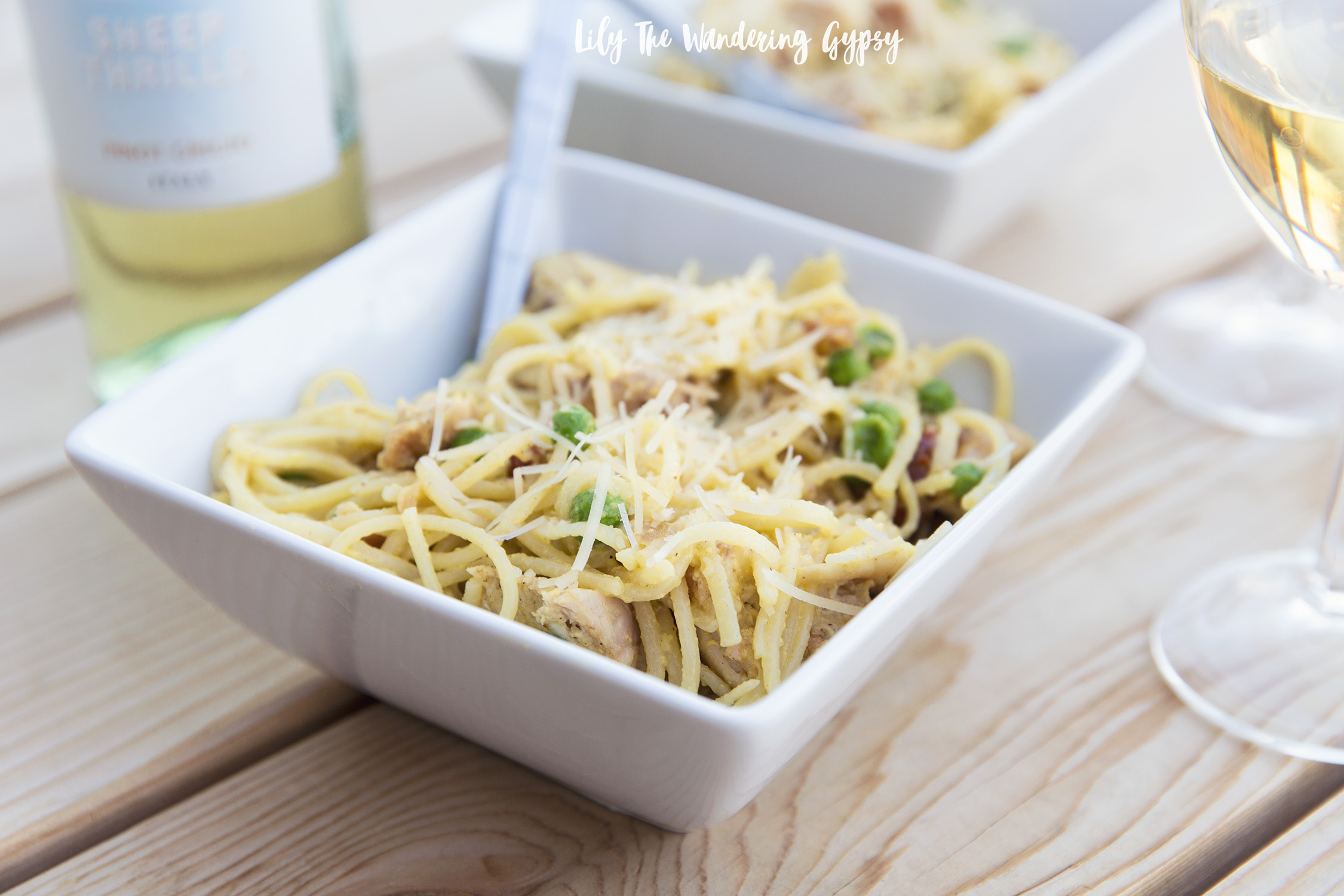 Pasta Carbonara With Chicken Recipe