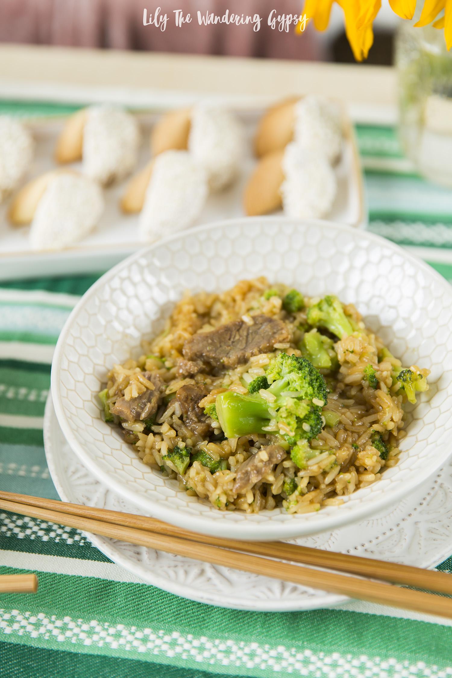 Broccoli Beef Fried Rice
