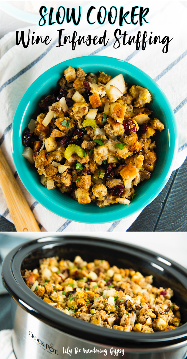Holiday Recipe Hack: Slow-Cooker Wine-Infused Stuffing with Sage Recipe