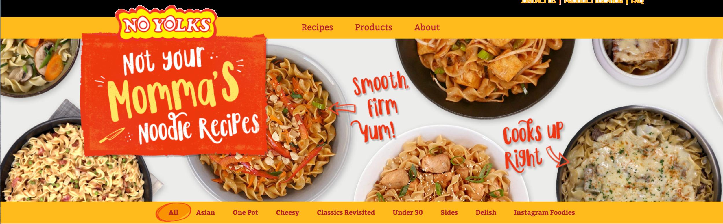 Recipe Ideas with No Yolks Noodles