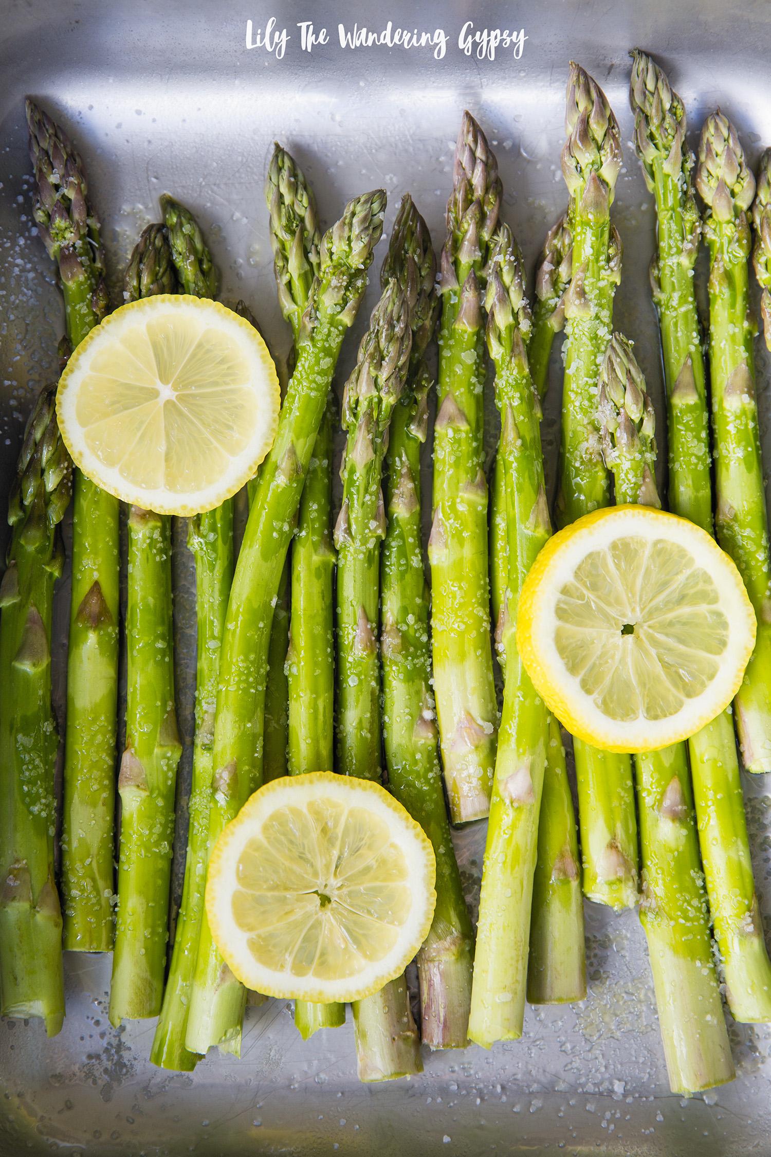 Garlic Lemon Butter Baked Asparagus