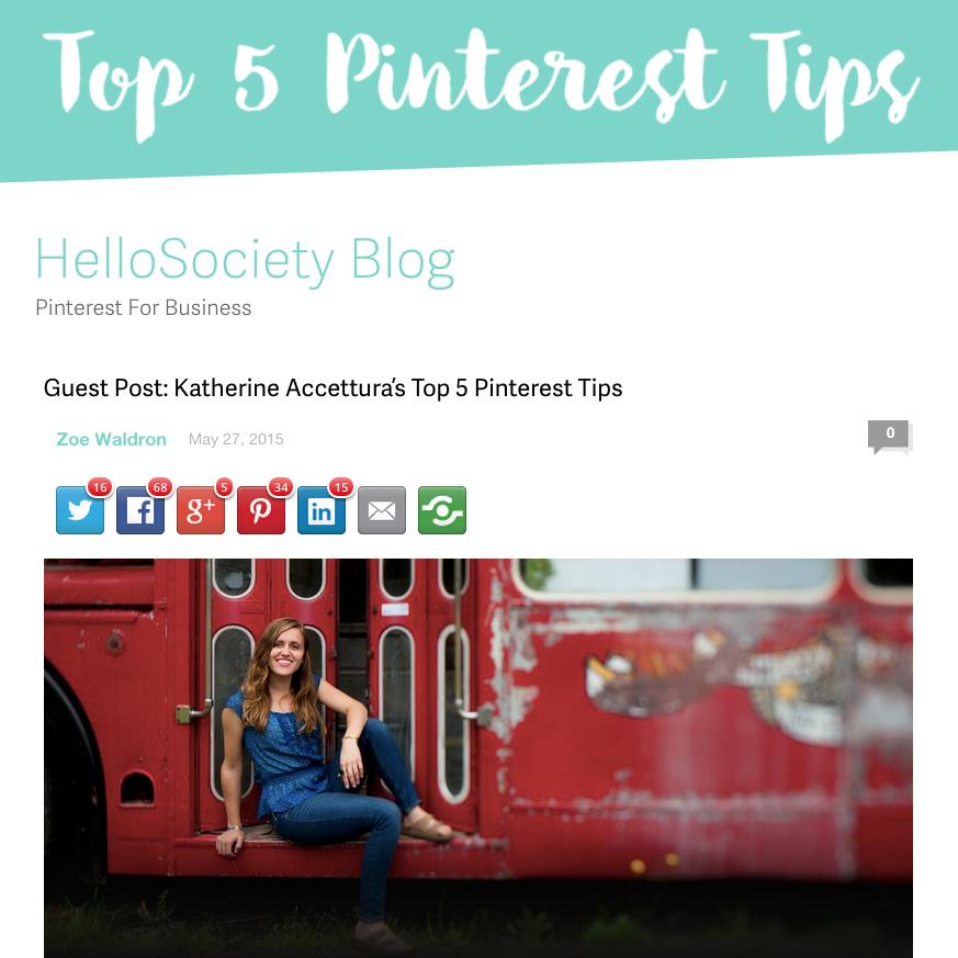 T op 5 Pinterest Tips   Jun 3, 2015