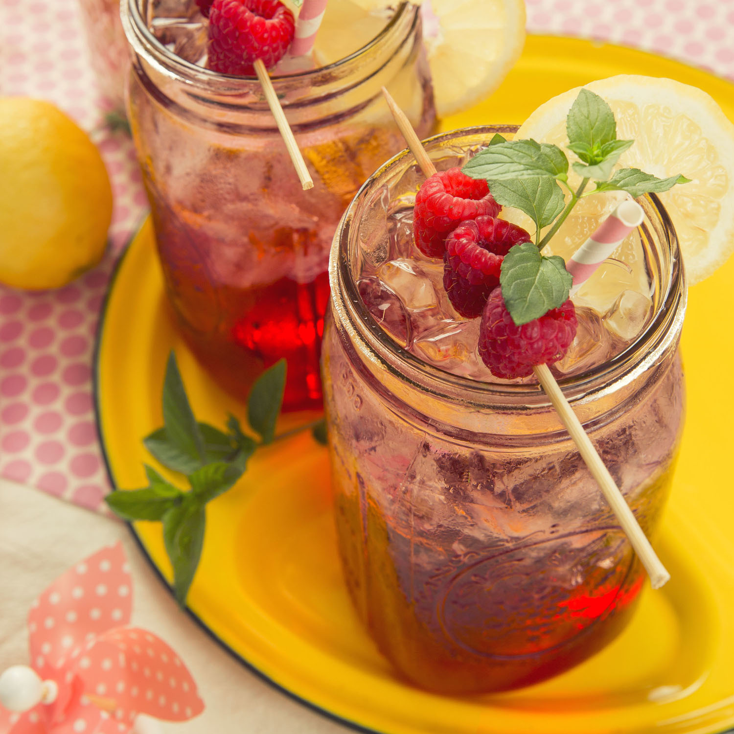 Raspberry Mint Spritzer With Lemon   Jul 28, 2015