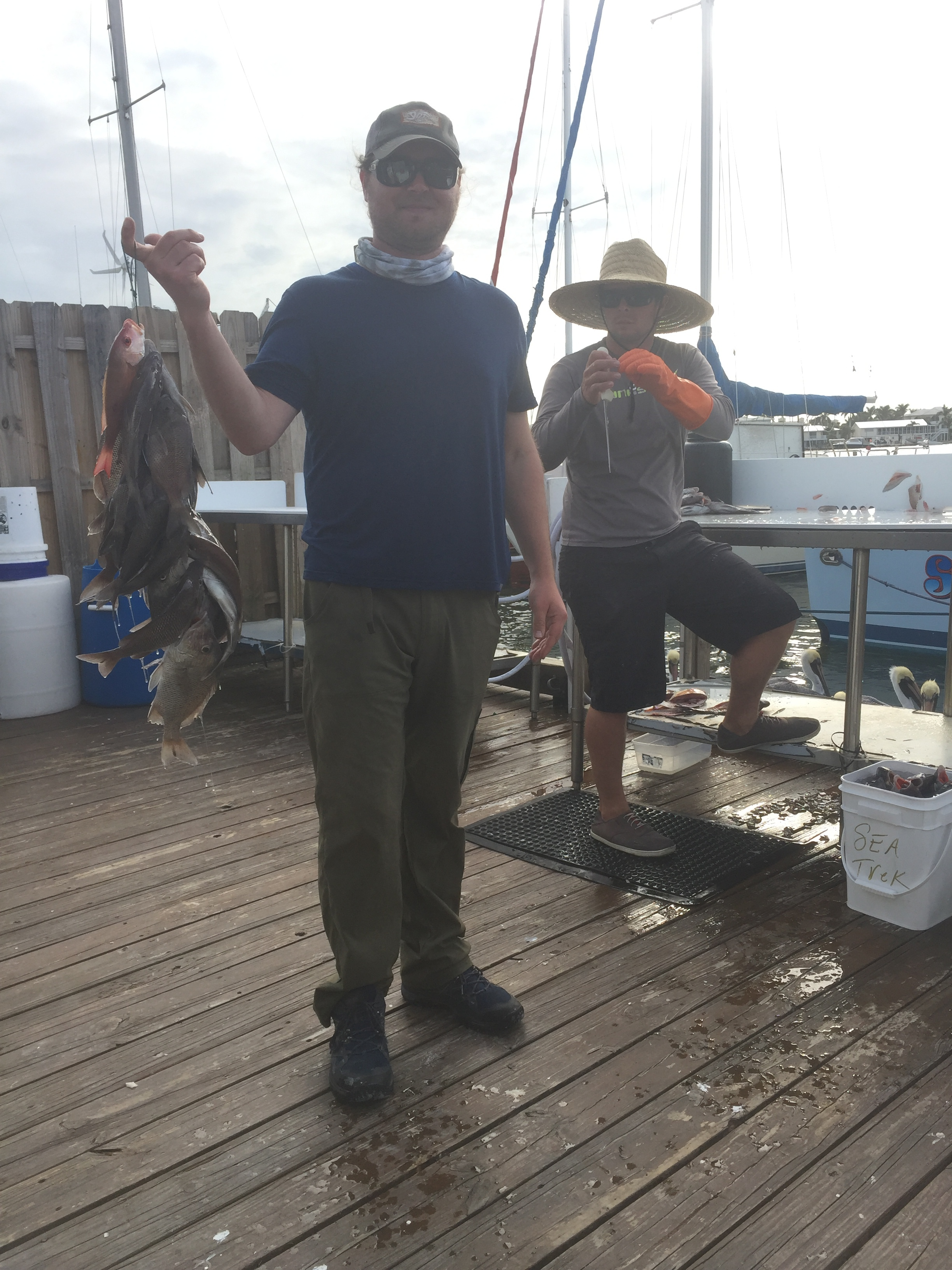 Bobby joined Sea Trek Charters and caught delicious snapper!
