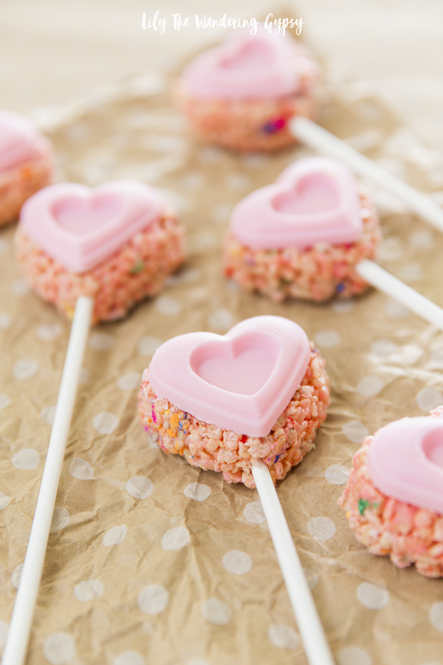 Adorable Heart Shaped Rice Krispy Treats