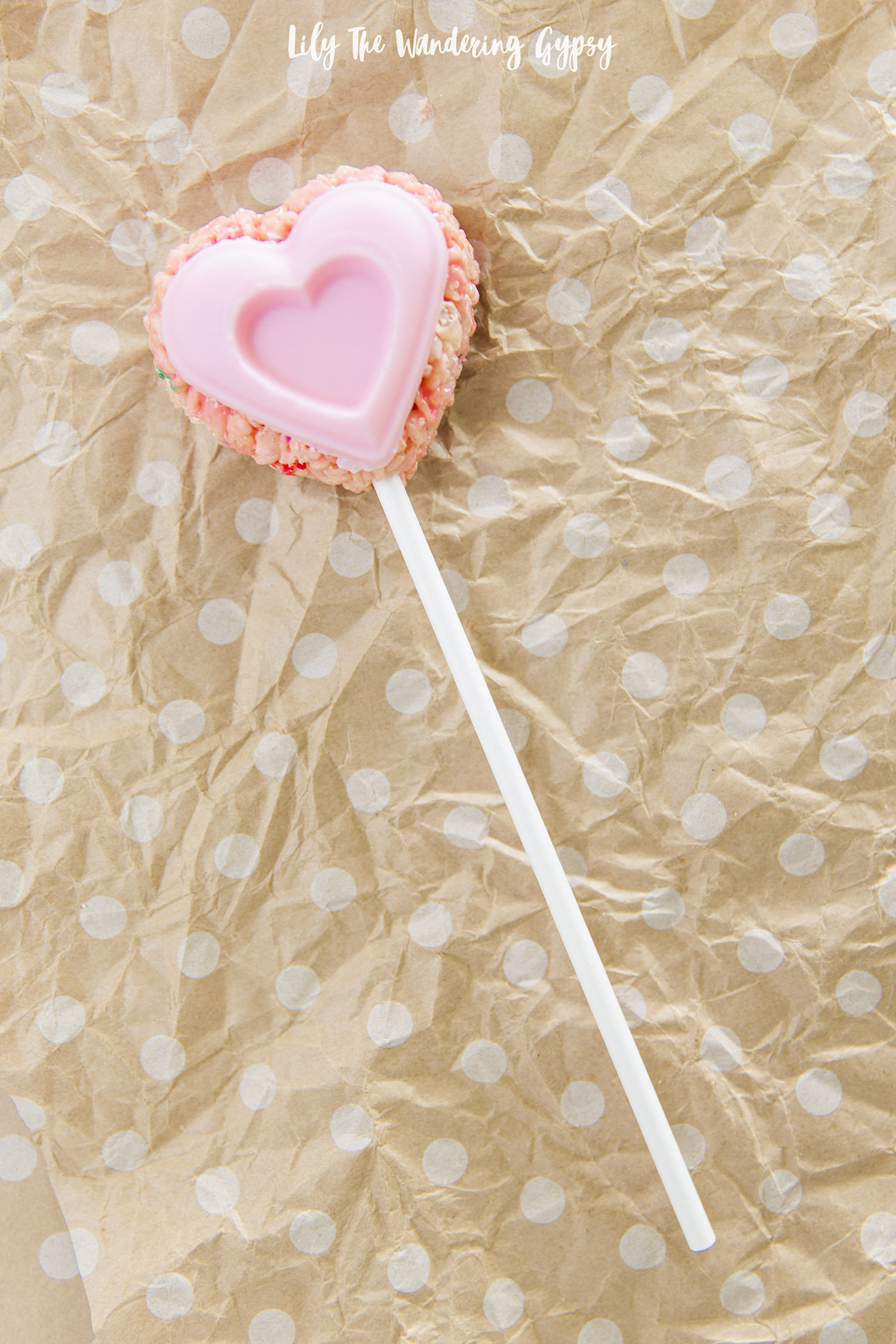 Adorable Heart Shaped Rice Krispy Treats