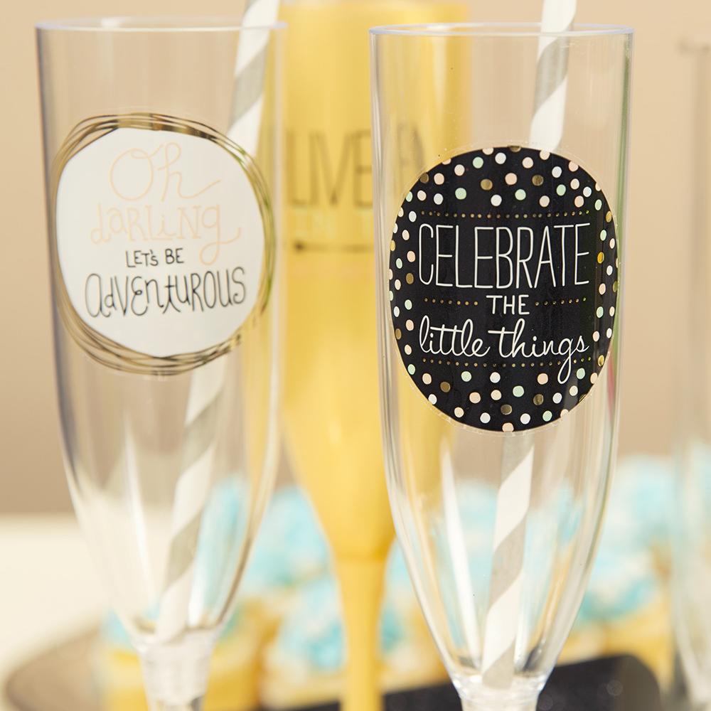 DIY Easy Custom Champagne Glasses