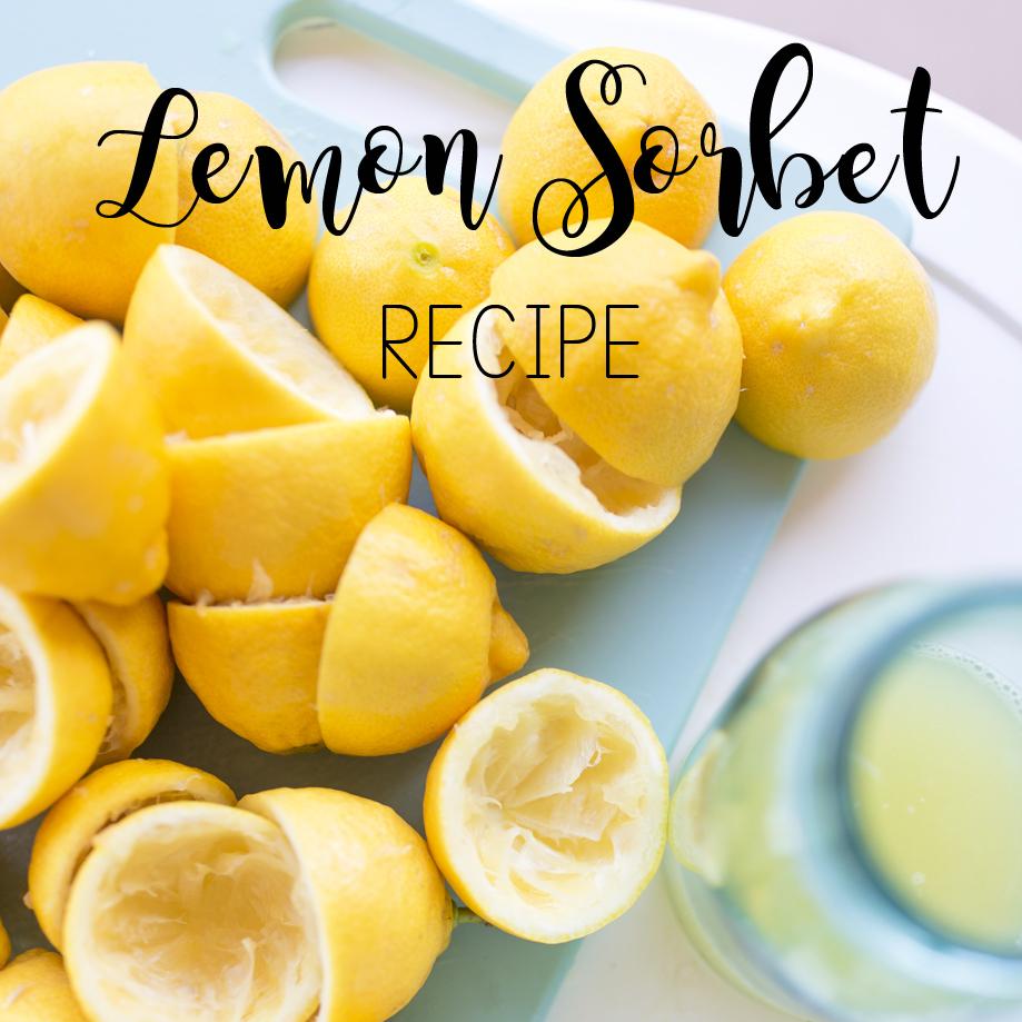 Lemon Sorbet Recipe