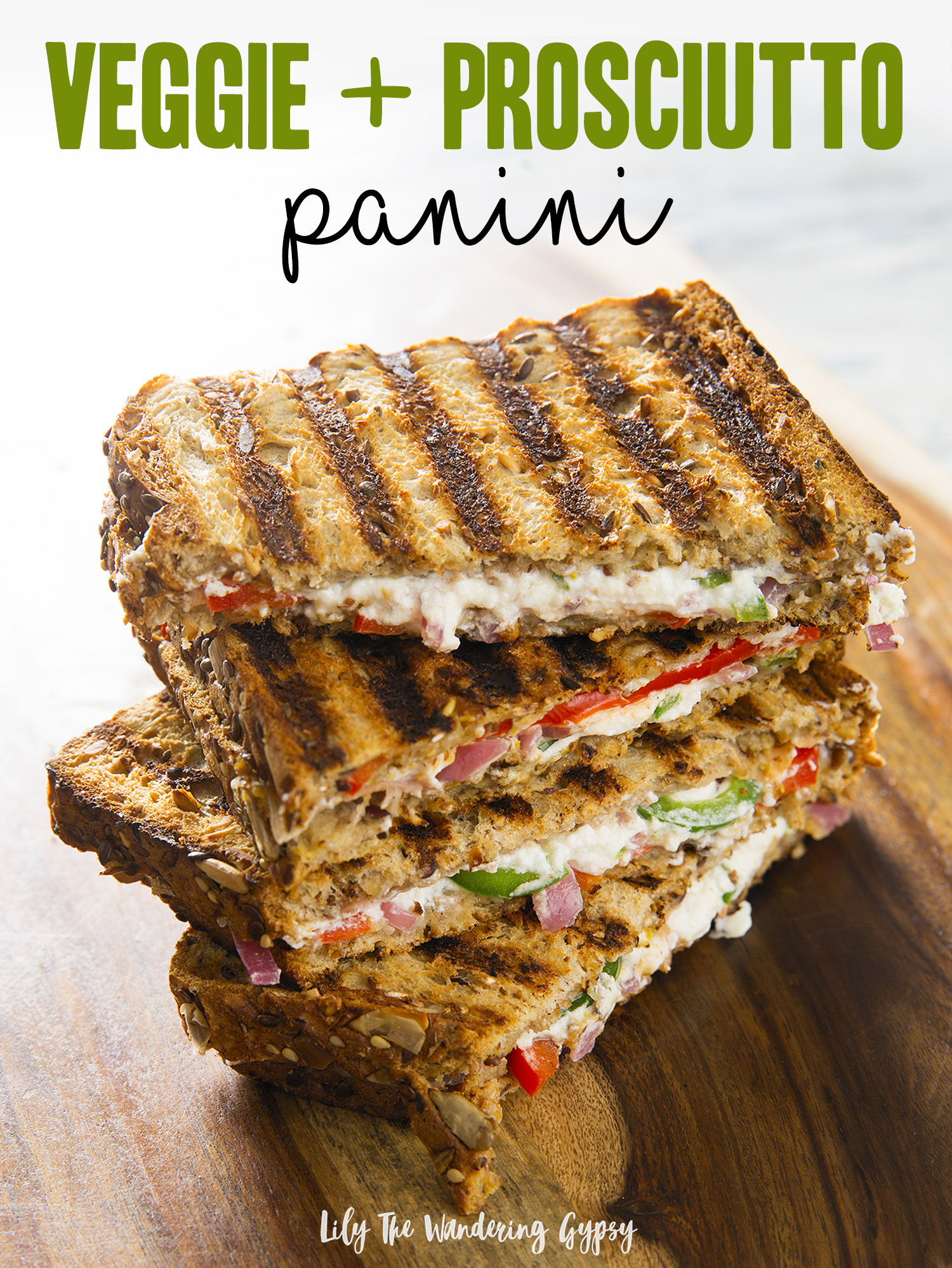 veggie + prosciutto panini recipe