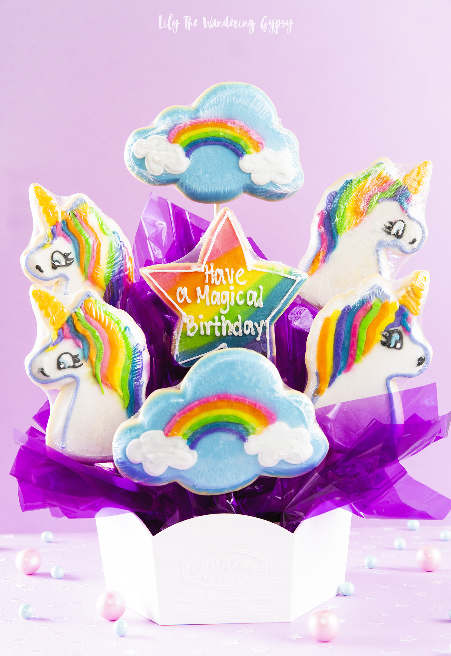 Unicorn Sugar Cookie Bouquet