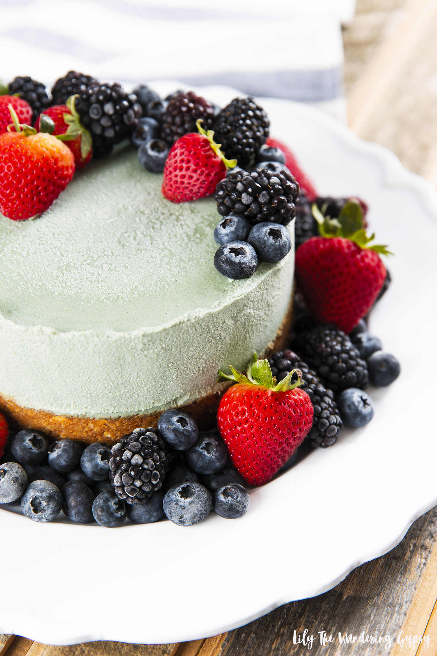 Vegetarian Cashew and Superior Green Filled Cheesecake Recipe