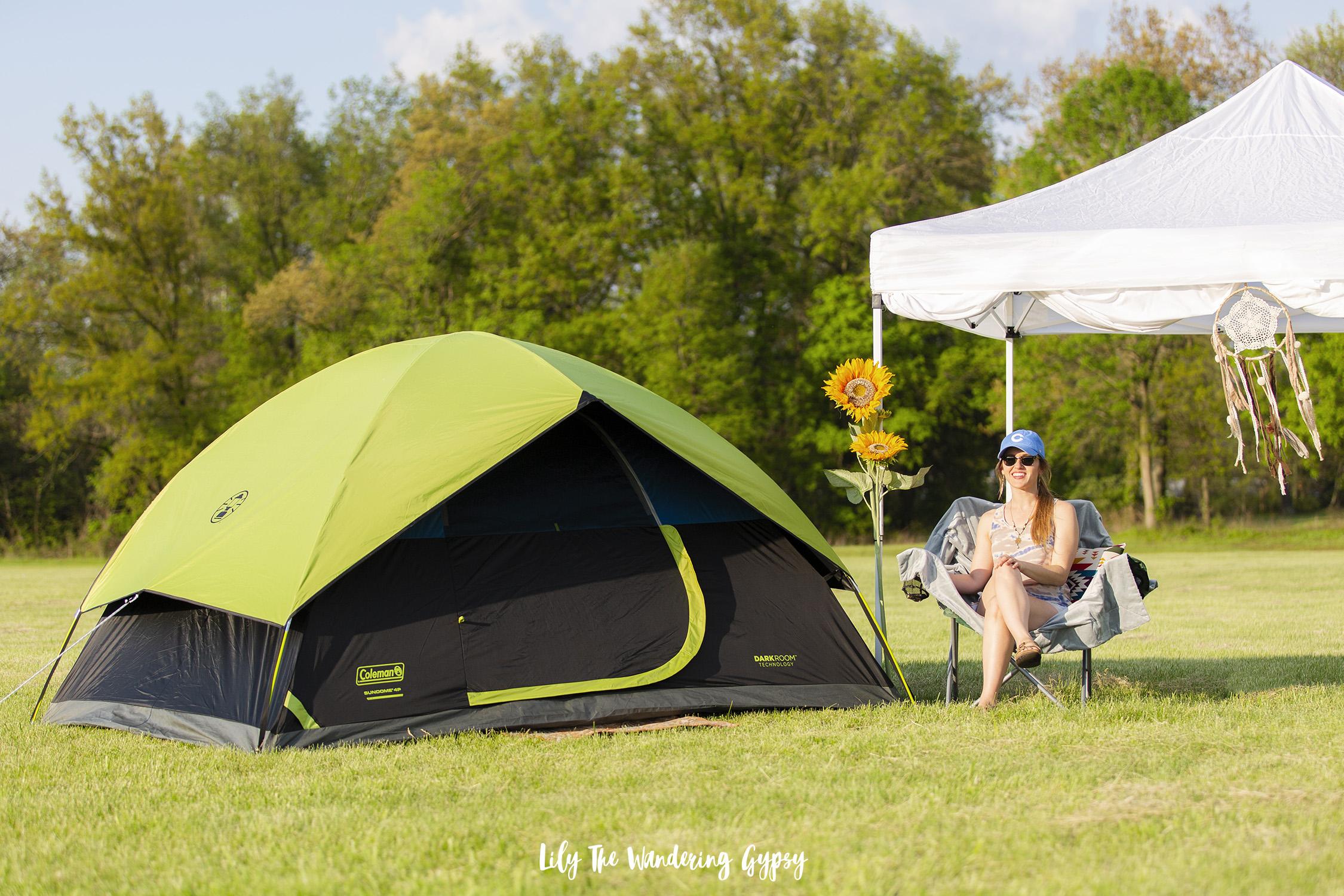 Coleman Darkroom Tent at Target #MusicFestival