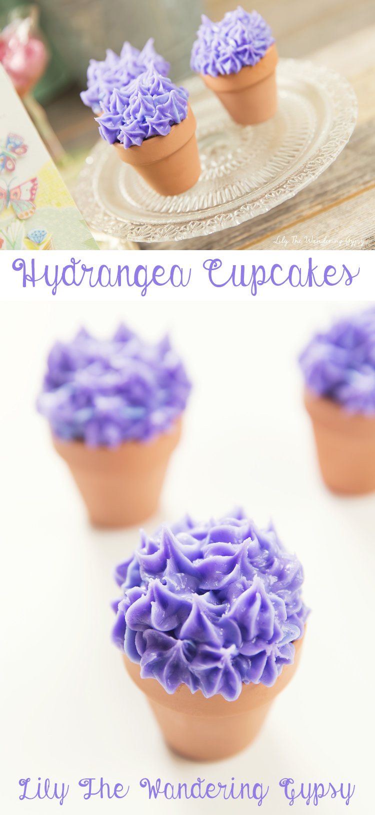 Hydrangea Cupcakes How To