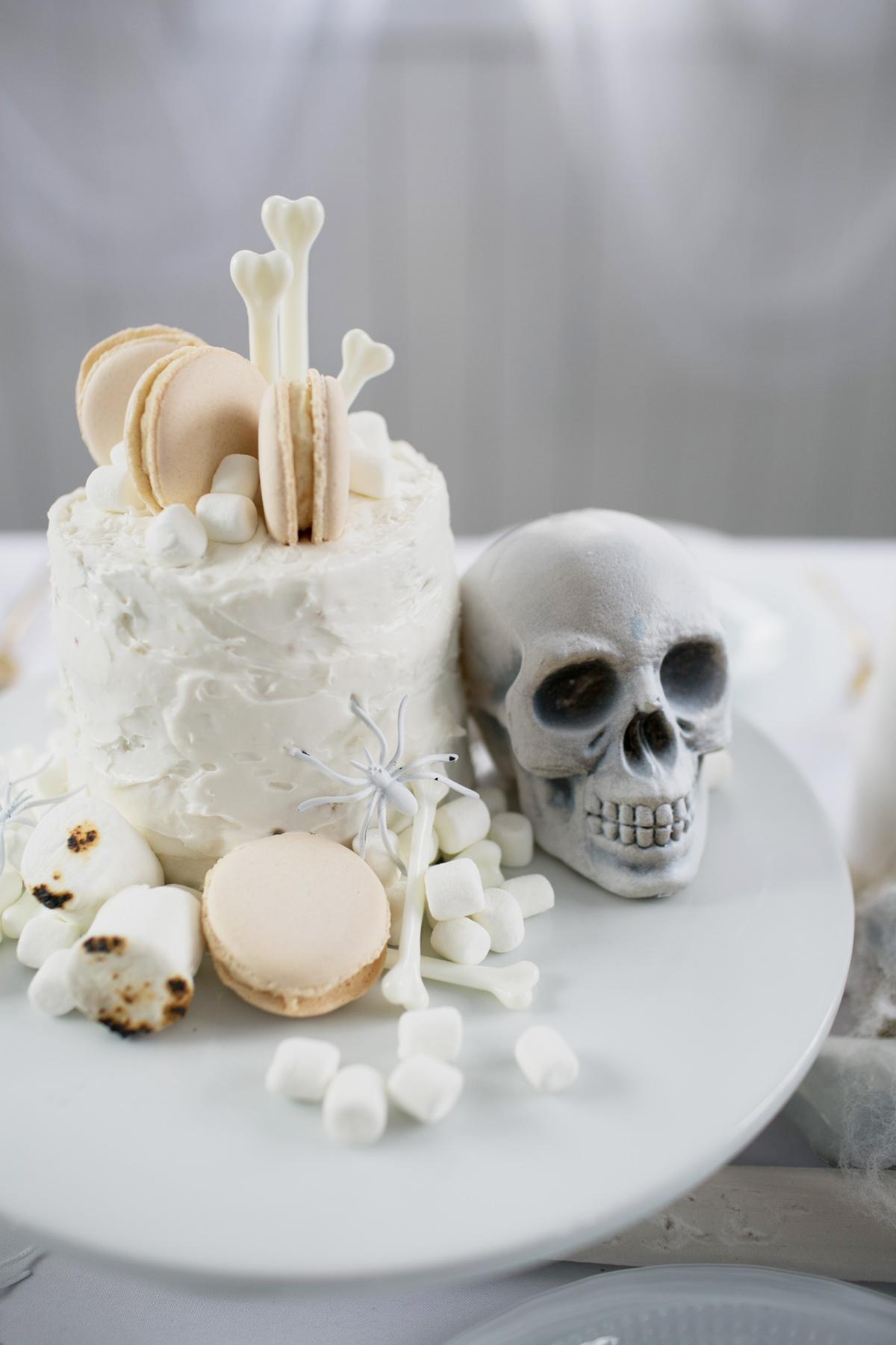 Halloween Coconut Layer Cake