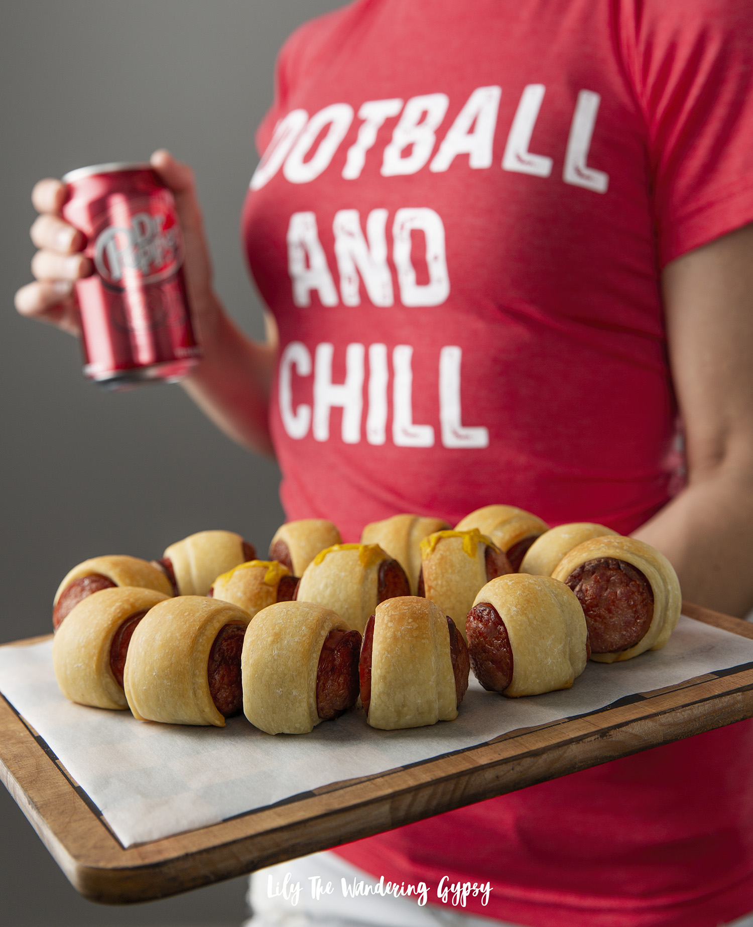 Football Shaped Party Appetizer