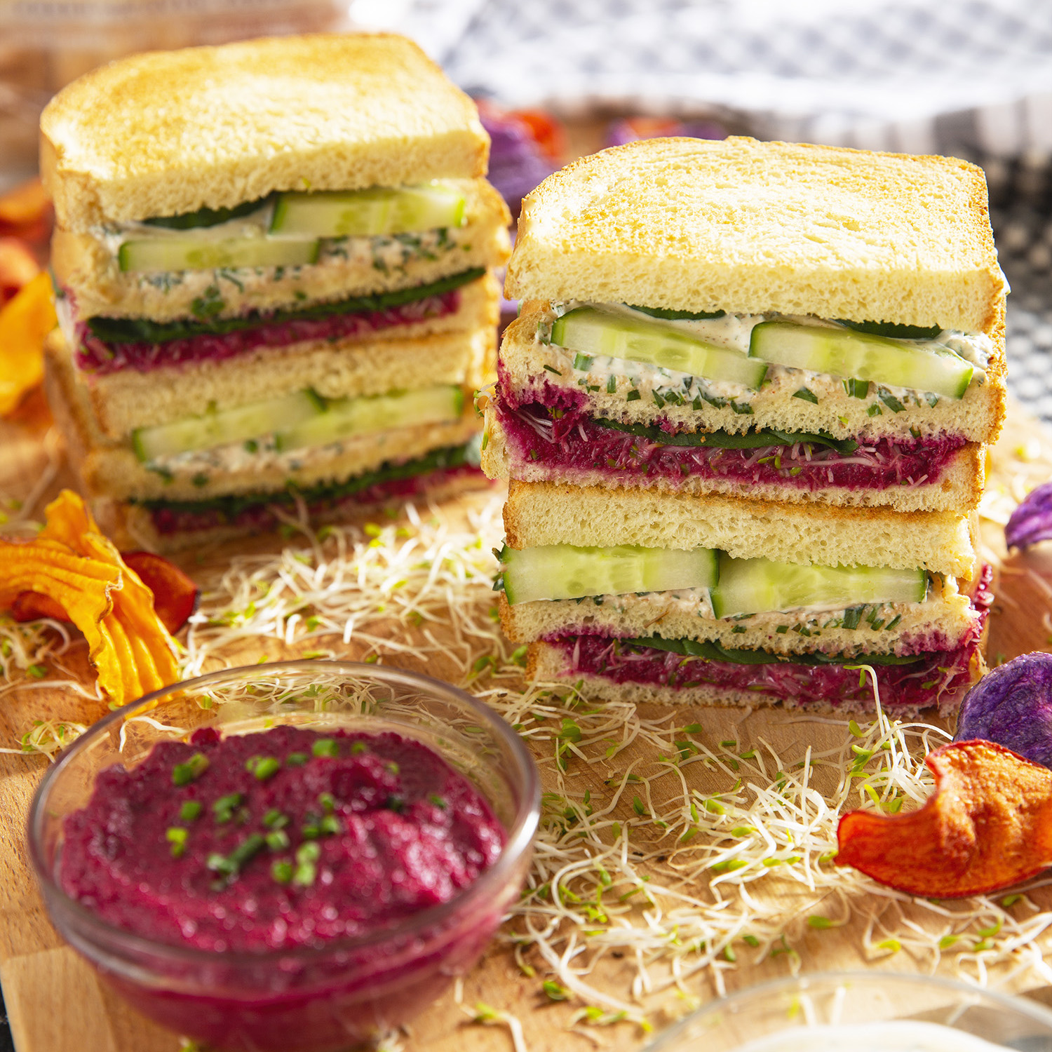 Veggie Lovers Club Sandwich