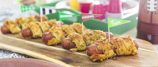 Jalapeno Pretzel Wrapped Hot Dogs