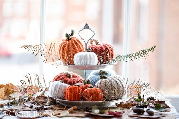 Velvet Pumpkins for Thanksgiving
