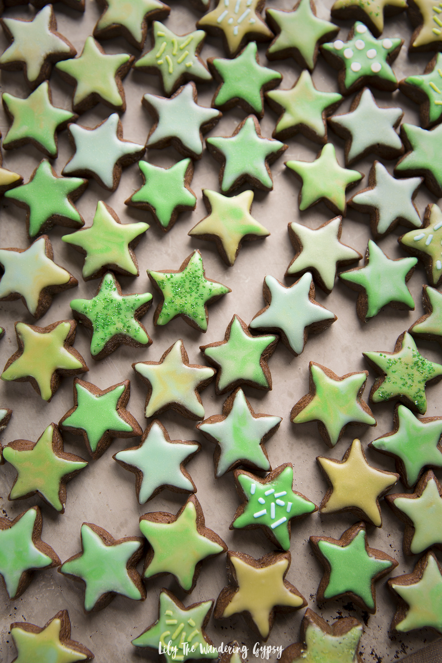 Soft Iced Gingerbread Cookies Recipe