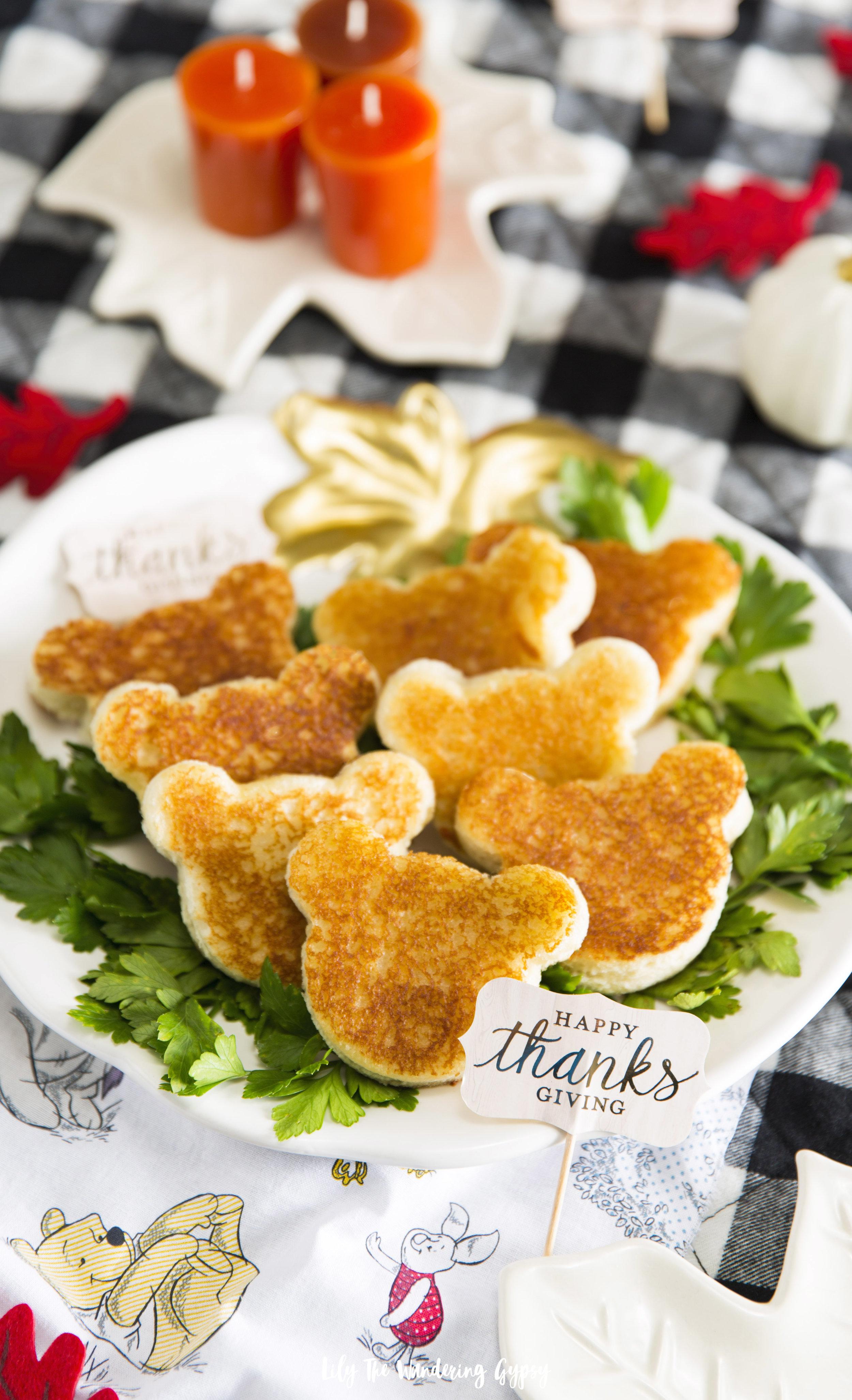 Winnie The Pooh Mini Sandwiches