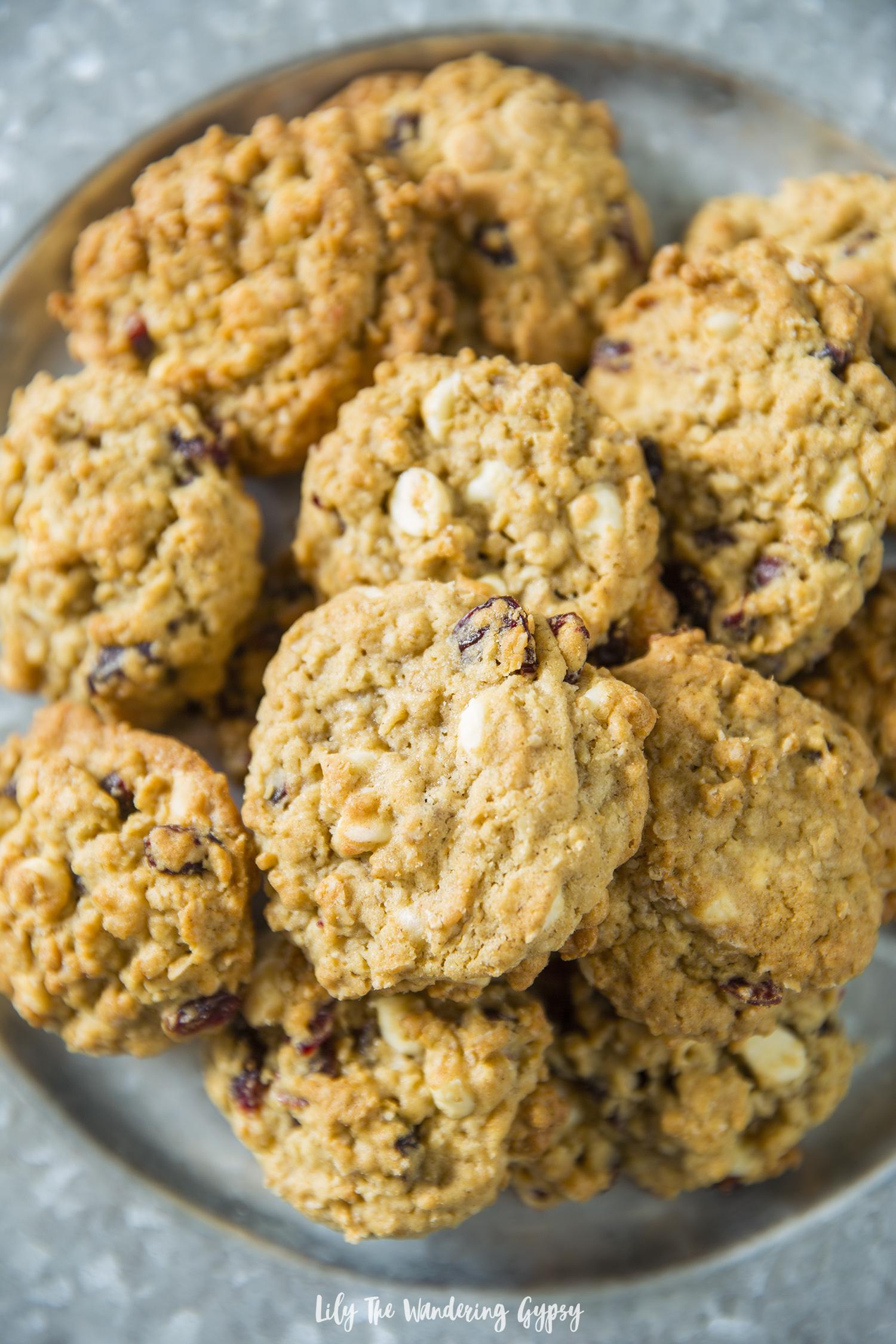 Oatmeal White Chocolate Craisins Cookie Recipe
