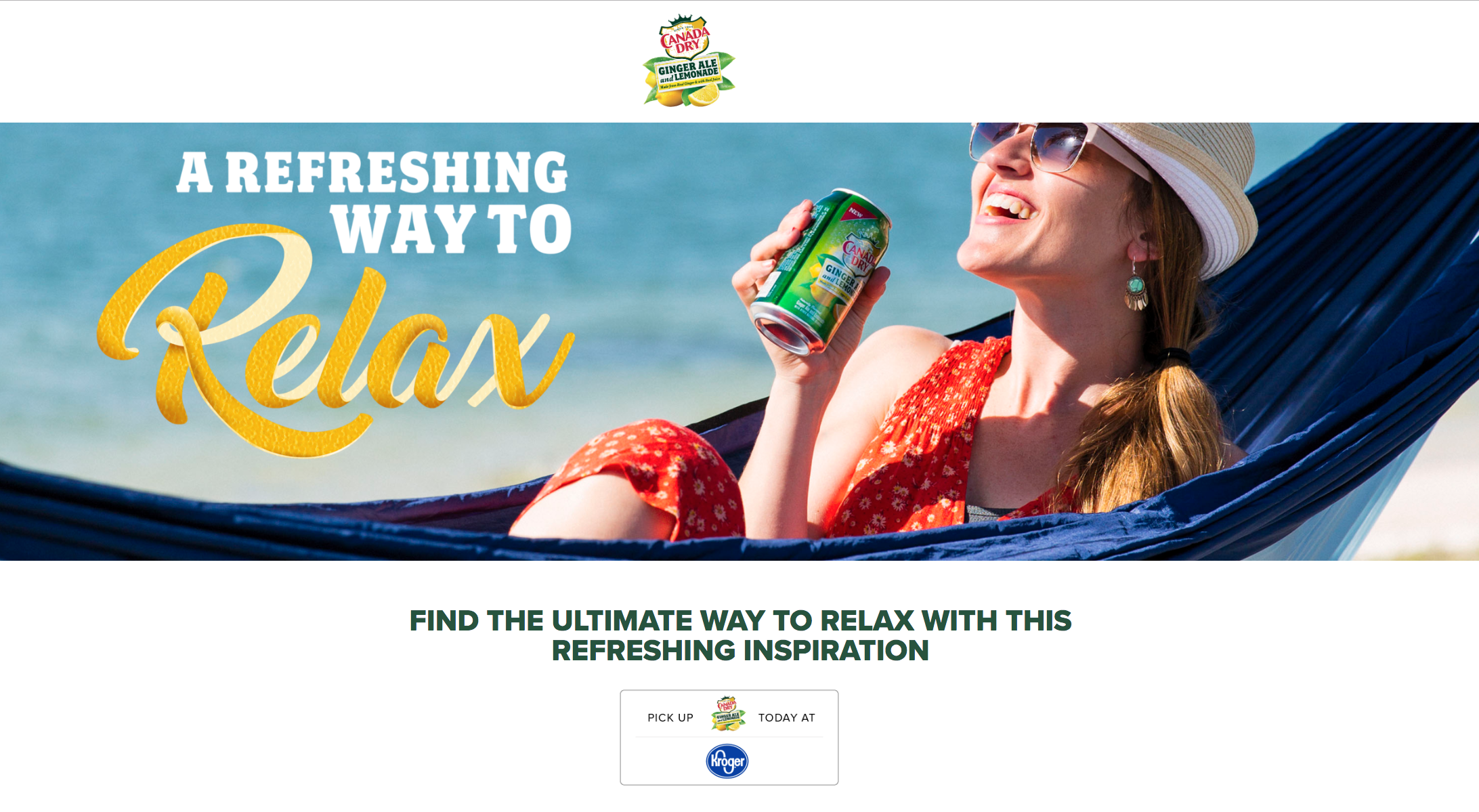 Featured on Canada Dry's website!