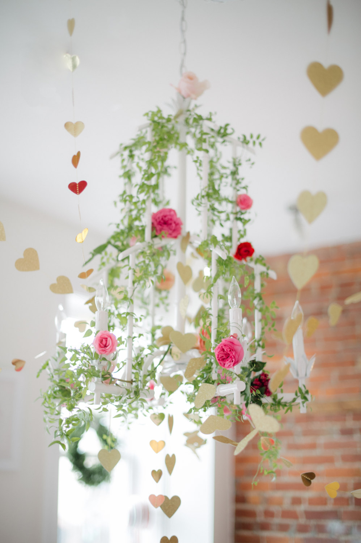 Handmade Valentine's Day Heart Garland
