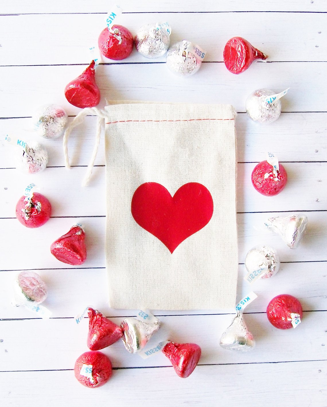 Cotton Gift Bags for Valentine's Day on Etsy