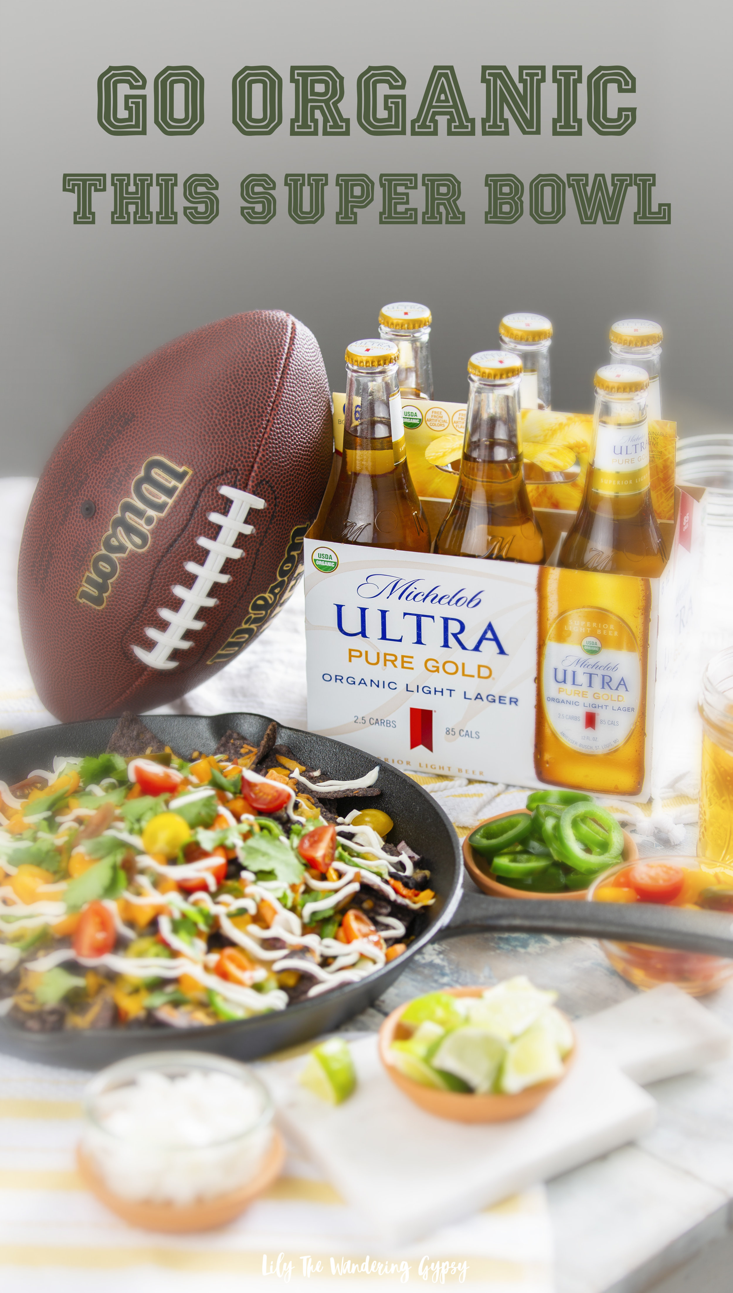Go #organic this #SuperBowl - skillet nachos recipe