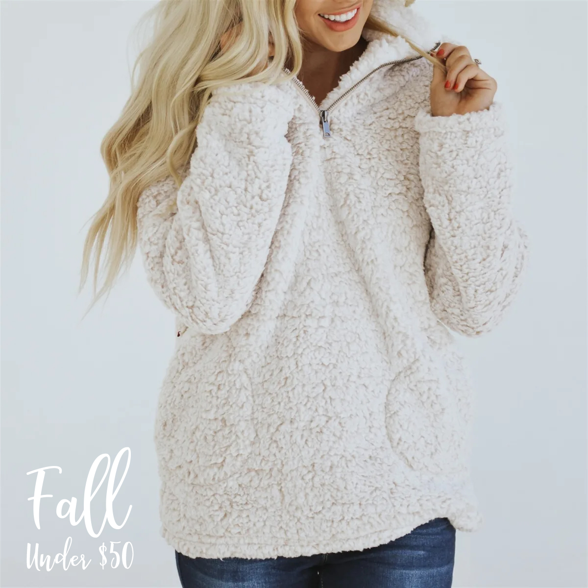 This  Sherpa Pullover  comes in 4 colors, and is a timeless closet staple. It will match so many outfits and excursions this Fall.  $26.99 plus $3.99 for the first item and $2.99 for each additional item. US only. Seller usually ships within 2 business days. Ships no later than Tuesday, Aug 27.