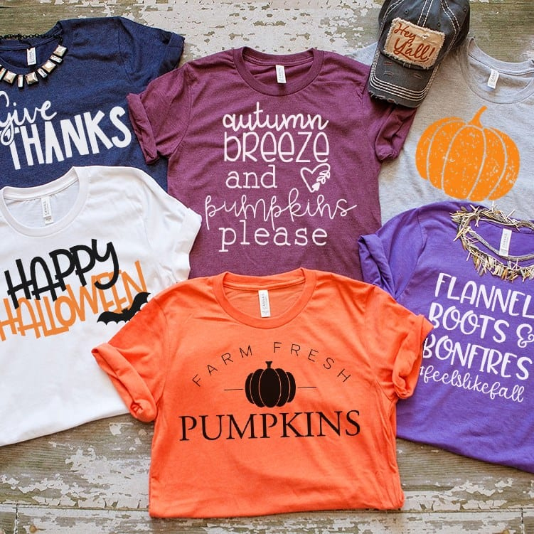 Awe, these  Fall-Themed T-shirts  are really adorable and I have several other designs from this company. They really last forever, and they fit like a dream! Great for the pumpkin patch, too!  $14.99 plus $3.99 for the first item and $1.99 for each additional item. US only. Ships no later than Thu, Sep 5.