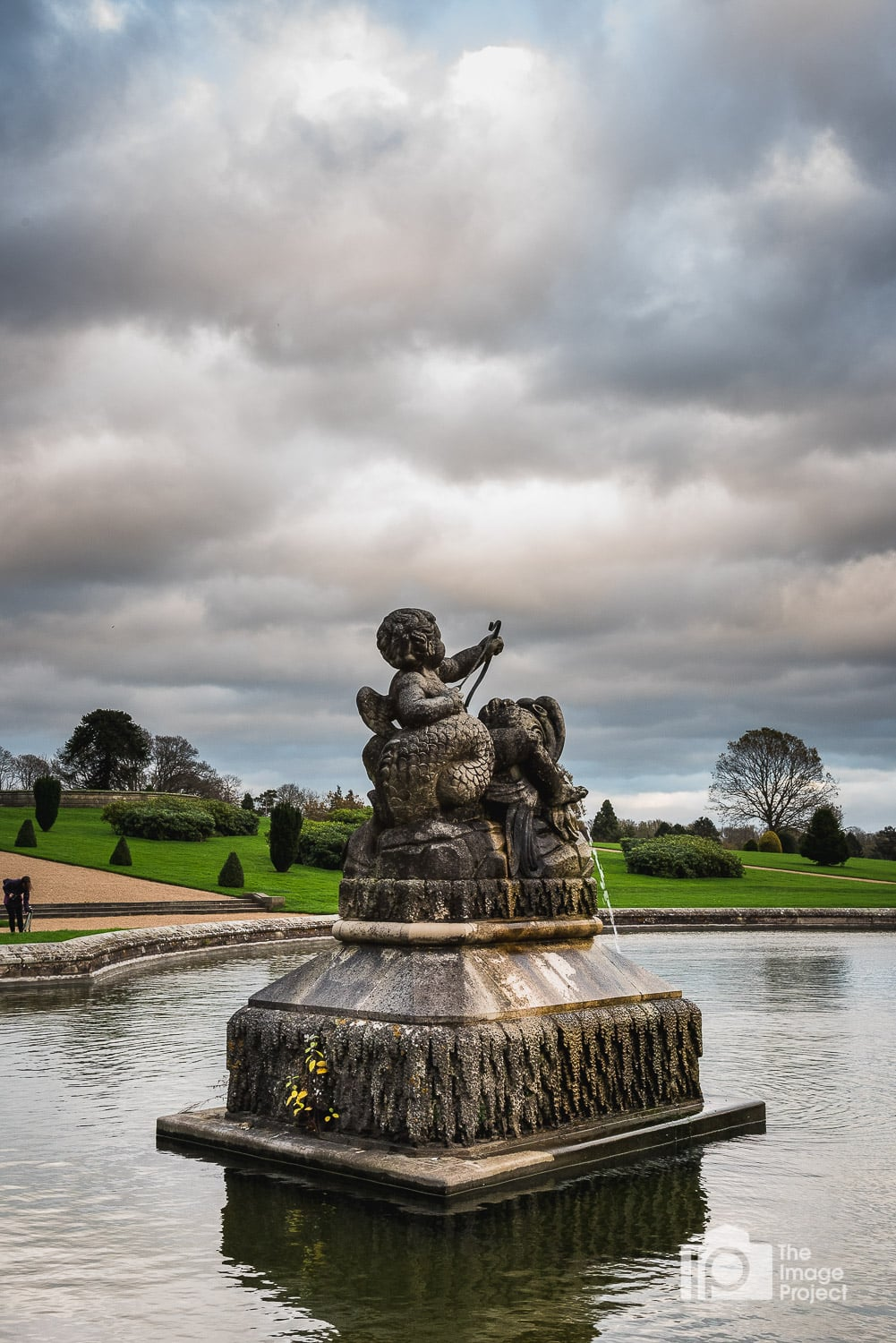 Fountain at golden hour, Witley Court grounds by Nathan Barry