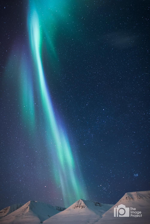Northern lights near Akureyri, north Iceland