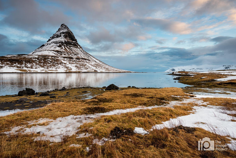 Kirkjufell mountain in the early morning light