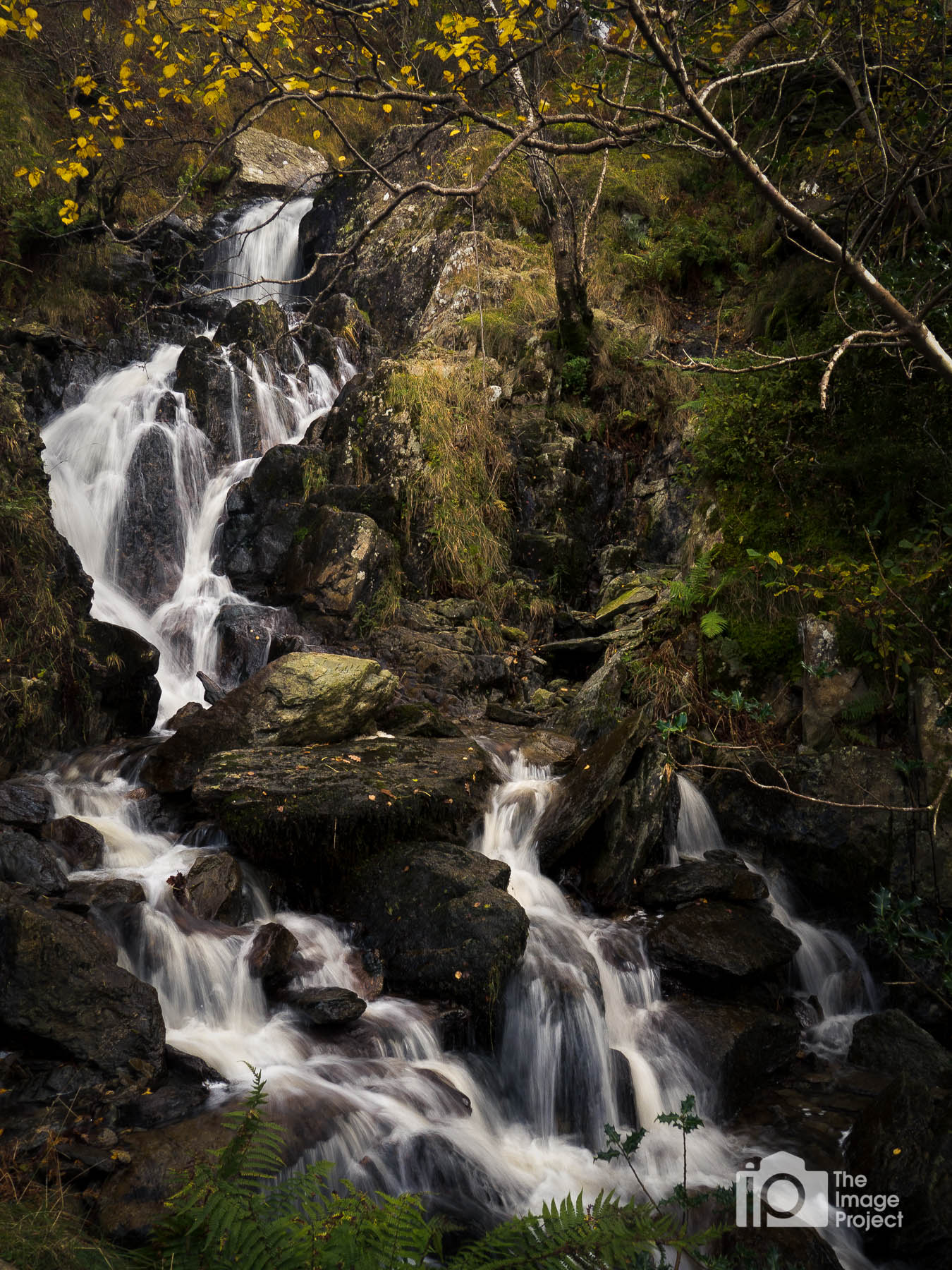 Small falls in autumn, Lake District