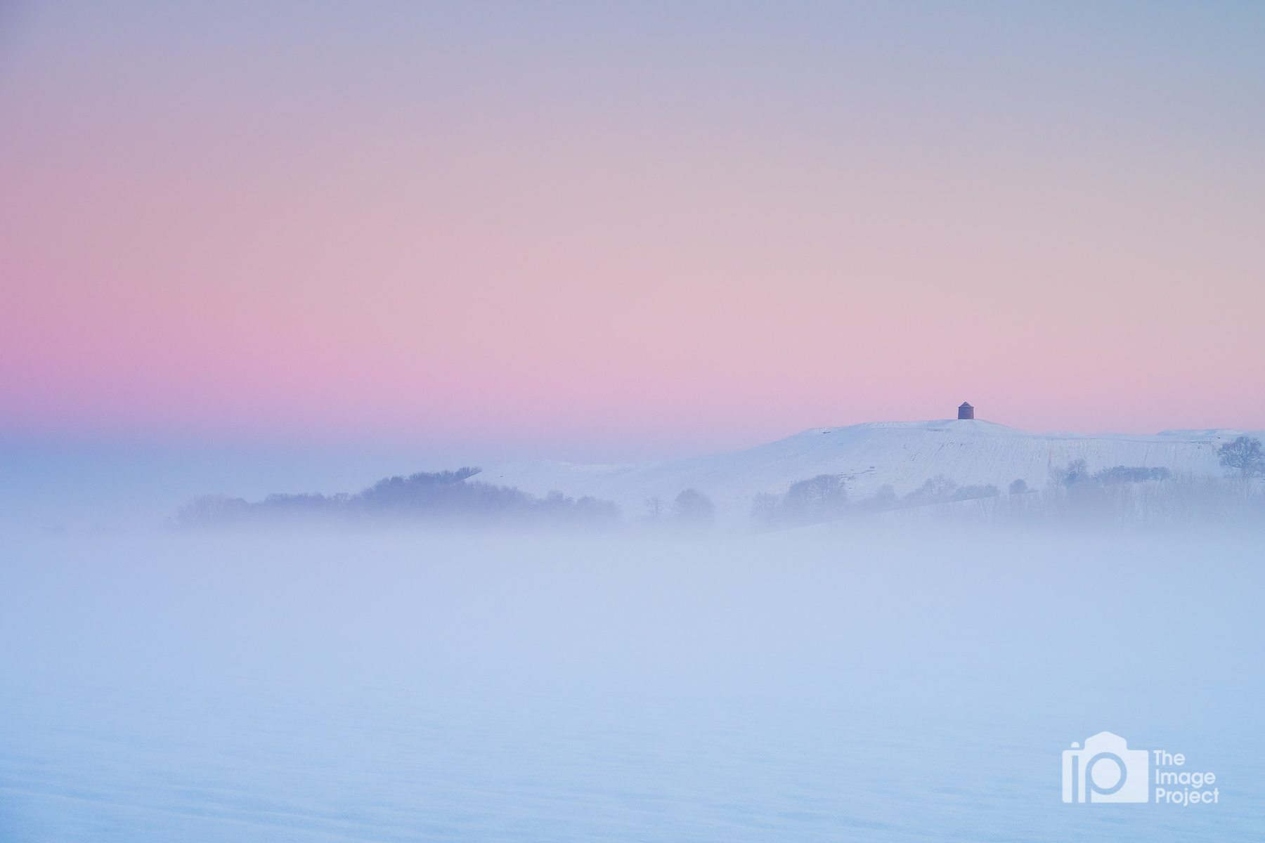 Burton Dassett in freezing fog