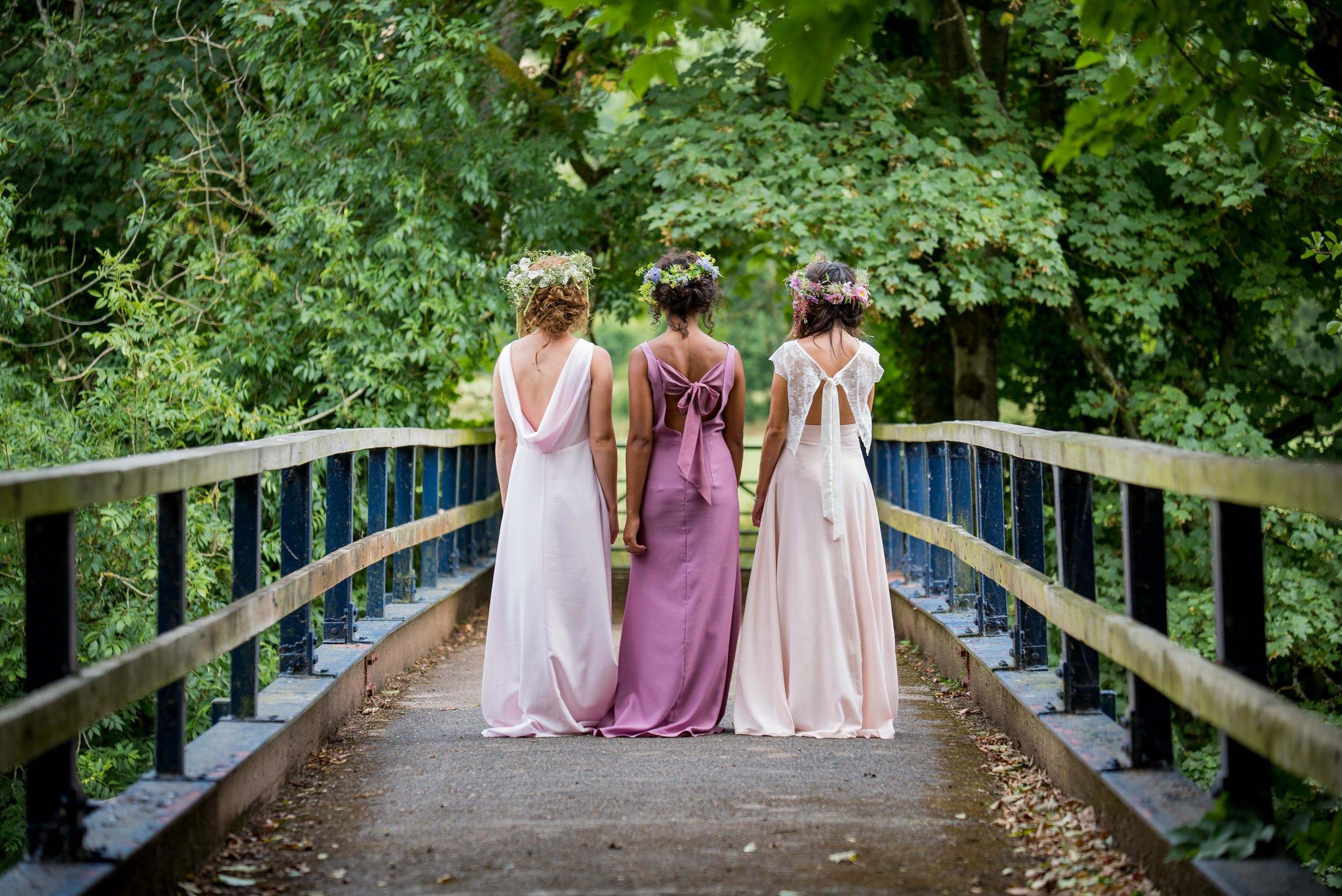 Ashleigh dress £185 | Eleanore dress £165