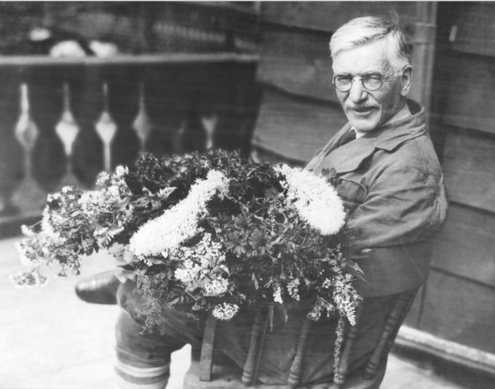 The Bio Station was founded in 1899 by a botanist and naturalist named Morton Elrod. Elrod was certainly a prolific individual as a pioneer for the flora and fauna of Western Montana. He was instrumental in the development of the University of Montana and became head of the biology department. He is shown here with his side hustle of collecting wildflower seeds in Glacier National Park.