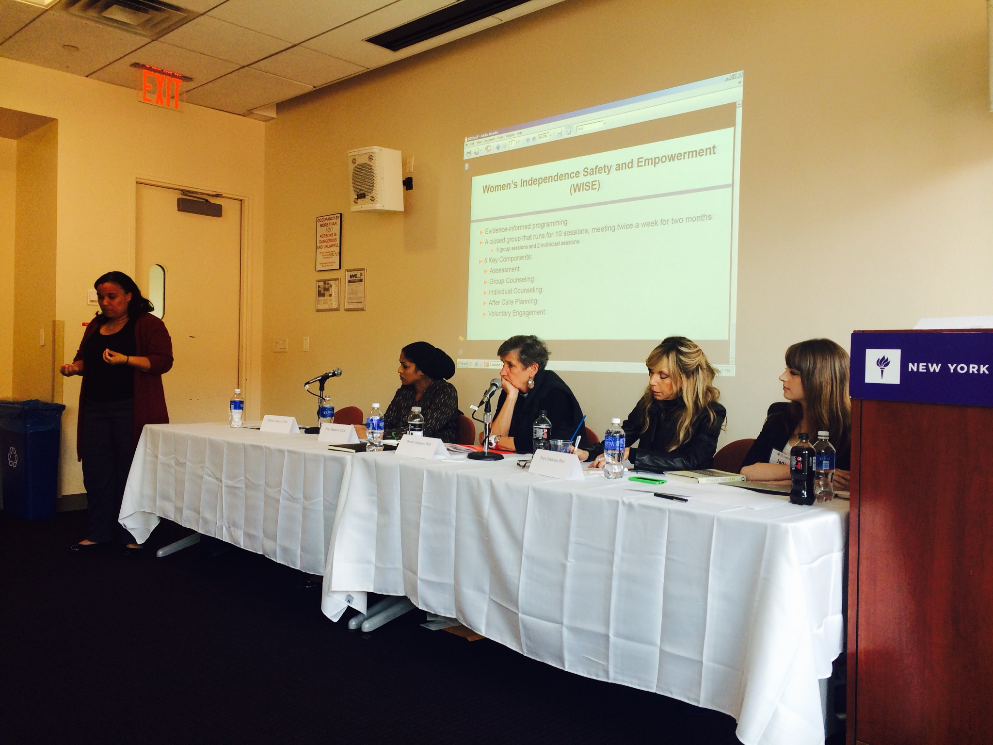 Billye Jones, Priya Chandra, Rev Donna Schaper, Dr. Faye Zakheim and panel moderator Jade Borgeson