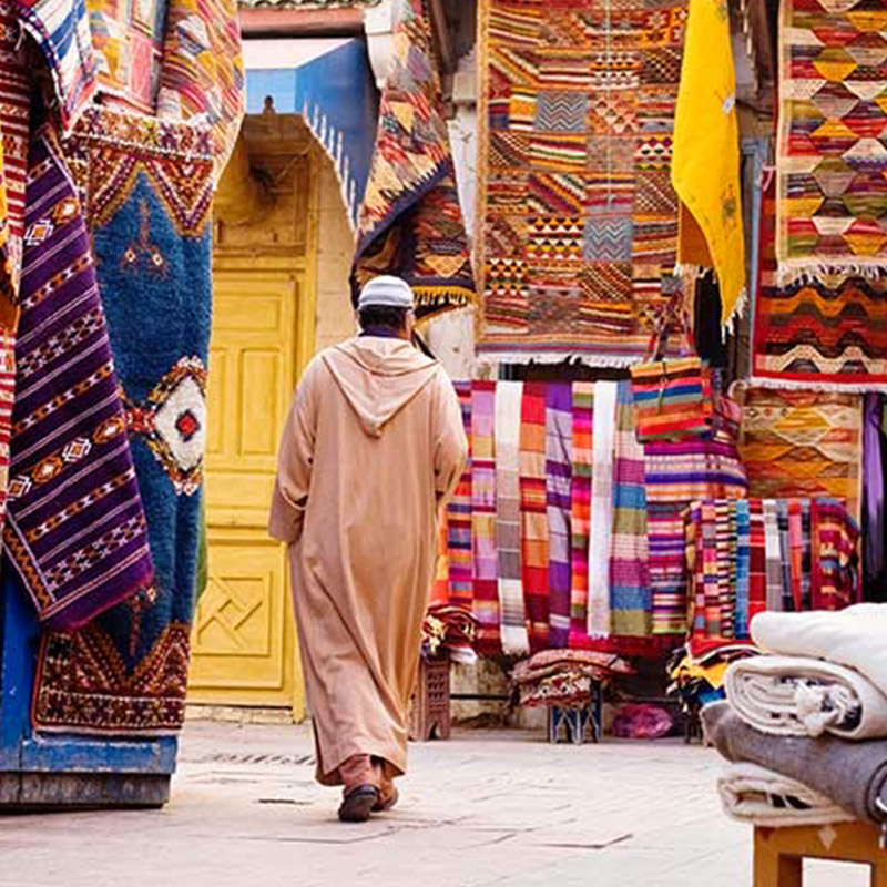 CITY & CULTURE - Spend two days exploring the city of Marrakech. Explore the famous Marrakech Souks (markets), check out the numerous mosques, learn about and take in Moroccan culture, and visit the Marrakech bath houses.