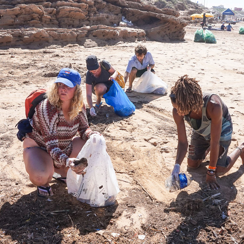 GIVING BACK - Protecting where we play, we'll be joining forces with the team at The Lunar Surf House and putting on a beach cleanup to help ensure we leave the spaces we go to better than we found them.