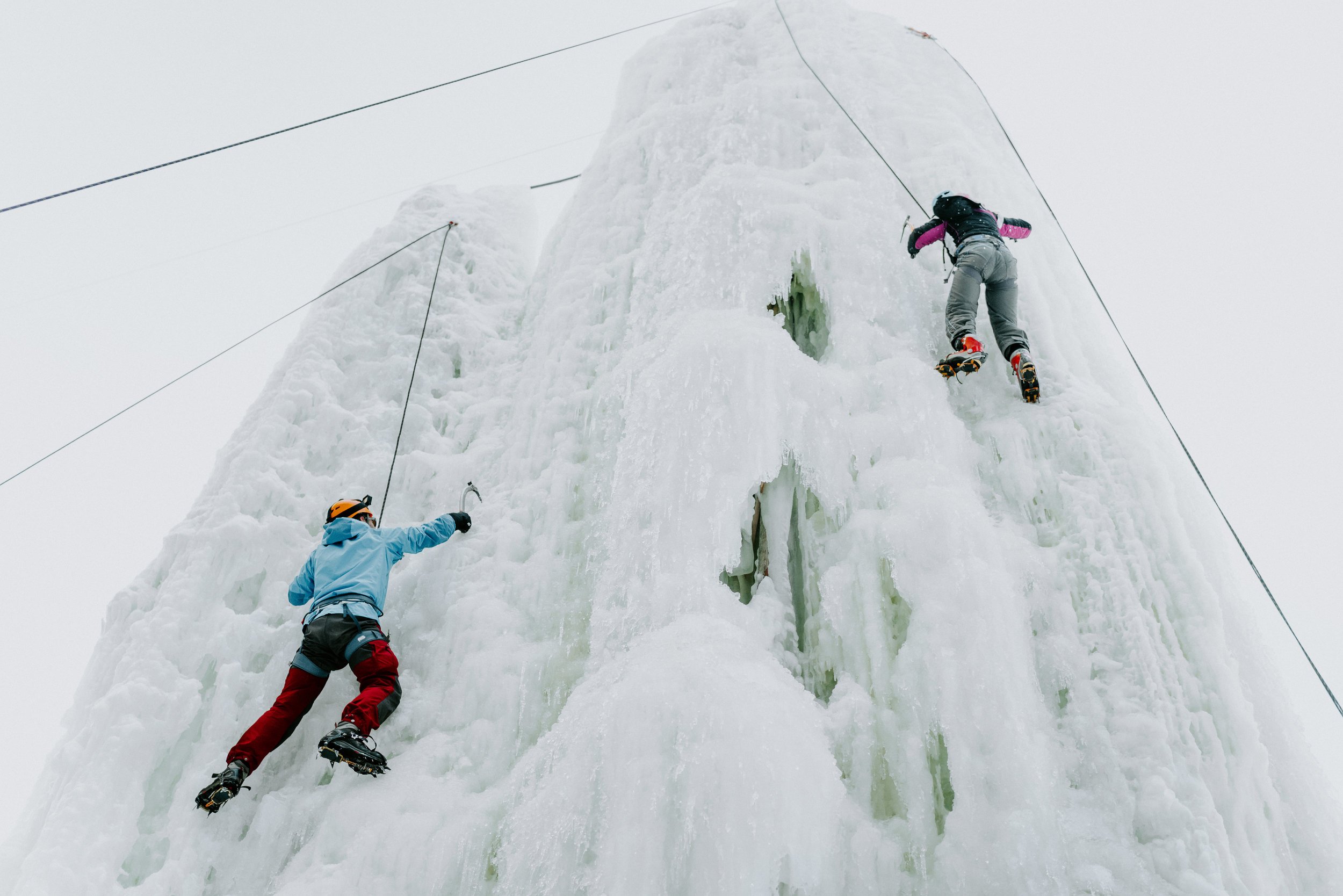 ICE CLIMBING:CLIMB, TREK, AND ZIP TOUR - The Yukon-famous climb, trek, and zip tour.Use ice axes and crampons to climb the ice towers. Explore the ice trek –a roped path with tunnels and bridges. And zipline from the top of the towers.Time: 2.0 hoursCost: $105 including transportation