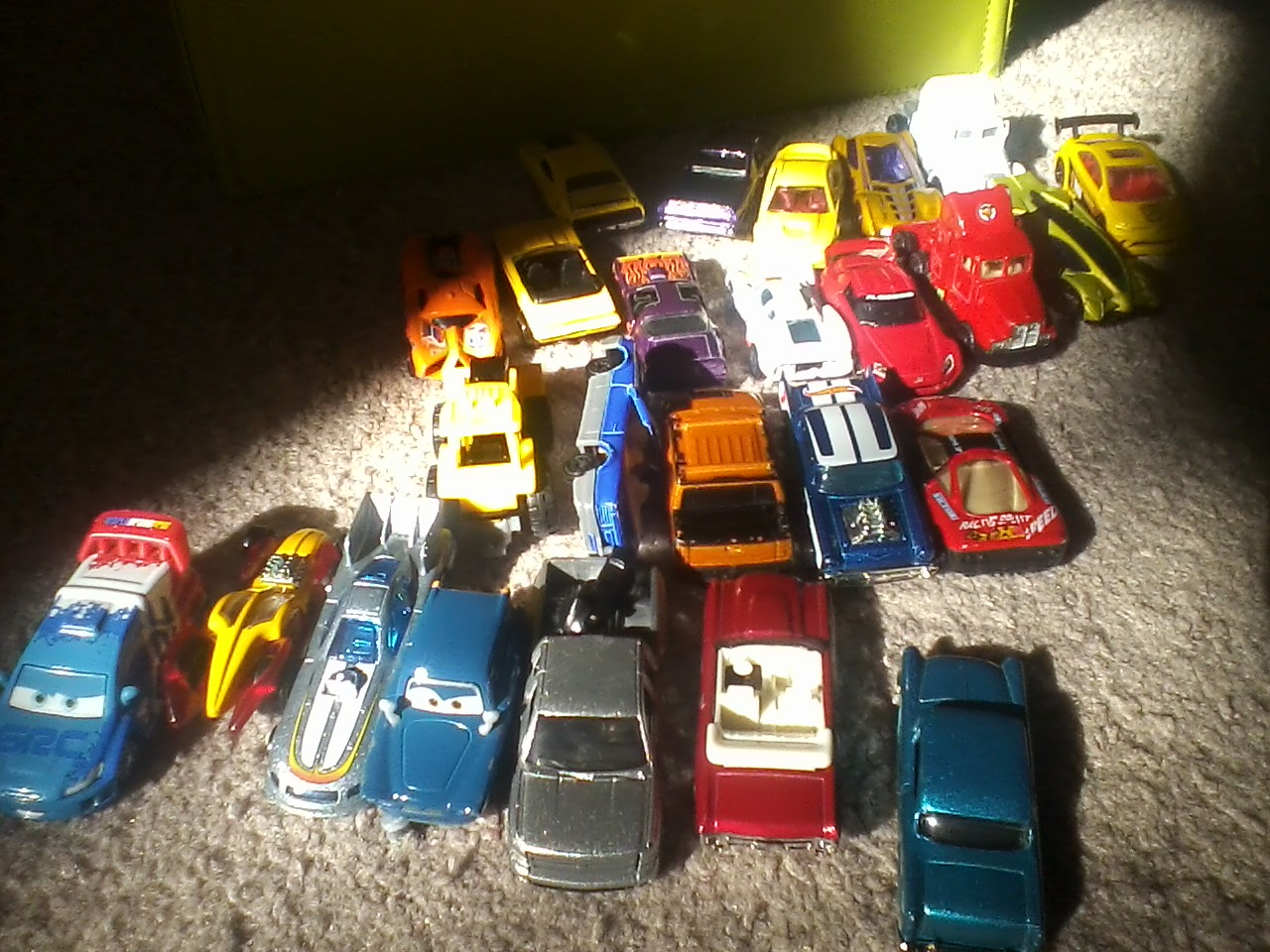 A small portion of our car collection