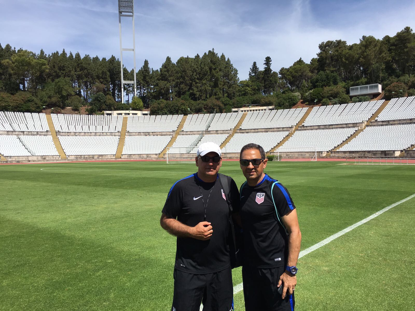 With U18 USYNT Head Coach Namazi.